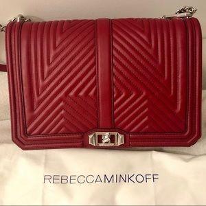 Rebecca Minkoff Jumbo Red Geo Love Crossbody